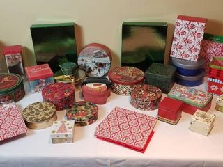 Christmas Gift Boxes and Tins   includes tote