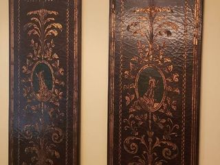 Pair of Decorated Wall Panels   28 x 72 in