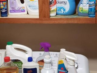 Cleaning Products   most are half Full   laundry   Floor
