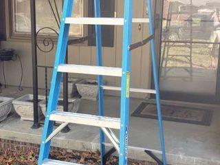 Werner 8 ft Fiberglass 250 lb Type I Step ladder