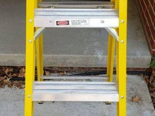Werner 4 ft Fiberglass 250 lb Type I Step ladder