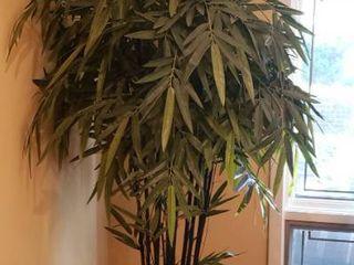 Faux Bamboo Tree in lg  Ceramic Pot   7 ft  tall