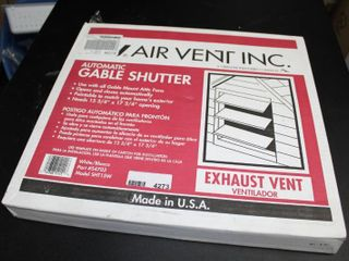 Air Vent Automatic Shutter