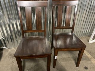 Set of 2 New Wood Side Chairs