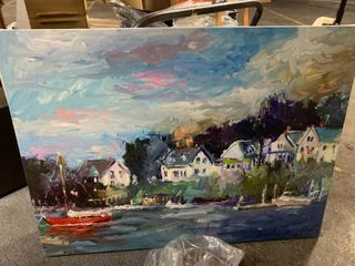 Canvas Wall Art 42 x 42   Village on the water 47 x 35