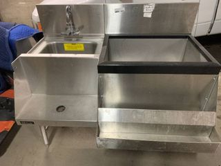 Perlick Combo Bar setup with sink Ice Well  Equipment Shelf and speed rail
