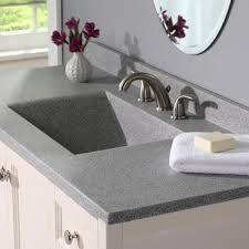 Swanstone Contour Solid Surface Single Bowl 42 inch Vanity Top  Gray Granite Retails  659