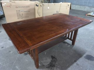large Arts and Crafts Solid Wood Dining Room Table