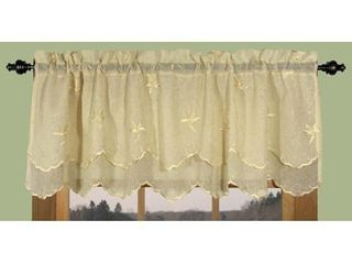 Two panels Zurich Vine and leaf Scalloped Valance