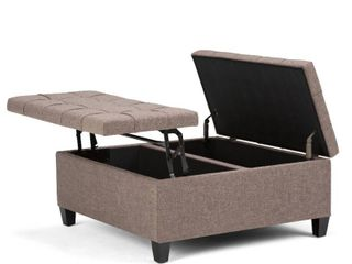 Wyndenhall Elliot 36  wide traditional coffee table storage ottoman