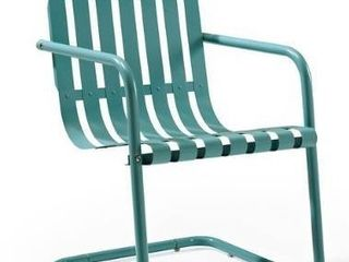 Gracie Stainless Steel Chair in Blue