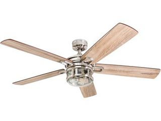 Honeywell Bontera Brushed Nickel lED Craftsman Ceiling Fan with Remote Control  BROKEN GlASS