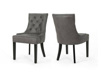 Hayden Contemporary Tufted Microfiber Dining Chairs