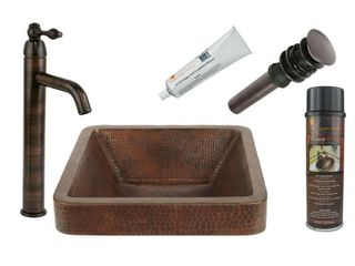 Handmade Vessel Sink with Faucet and Accessories Package  Mexico