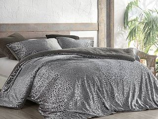 Primal leopard   Coma Inducer Oversized Comforter   Silver Black by BYourBed   King