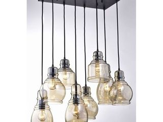 Strick  amp  Bolton Yinka Antique Glass Pendant lights   19x26x17