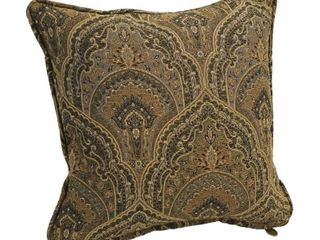 Blazing Needles 18  Corded Patterned Jacquard Chenille lumbar Throw Pillows  Set of 2