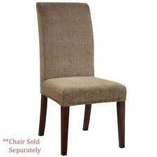 Powell Guinevere Tan Chenille Skirted Slip Over Chair Slipcover  pack 1