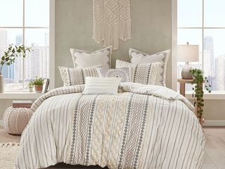 Clementina Cotton Printed Chenille F Q Comforter Set by The Curated Nomad   Full Queen
