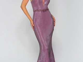 Size 6 Formal lavender long shimmer Dress by Stella Couture