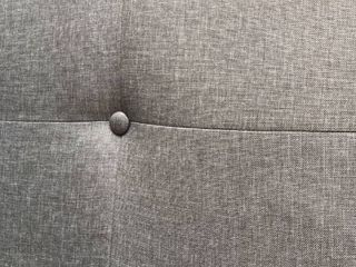 Aria Grey Fabric Upholstered Button Tuft King Headboard