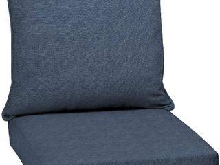 Sunbrella Denim Blue Indoor Outdoor Deep Seating Cushion Set  Corded   23 5  x 23  x 5