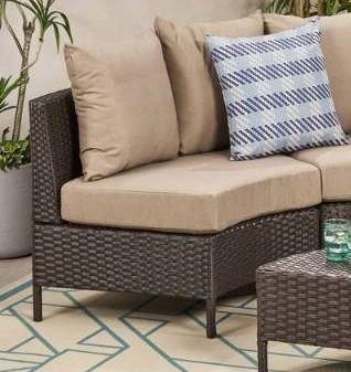 Newton Outdoor Wicker Sofa Section