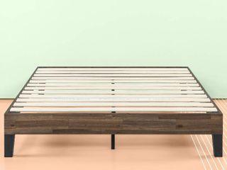Priage by ZINUS Brown Wood Platform Bed Frame   Full