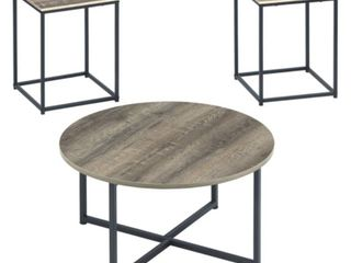 Wadeworth Occasional Table Brown Black   Signature Design by Ashley 2 Tables
