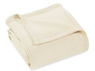 Impressions Solid Woven Cotton Twin Blanket