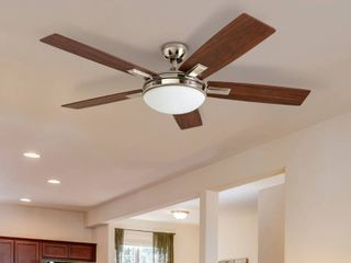 Copper Grove   Garff 52  Brushed Nickel Ceiling Fan with Remote