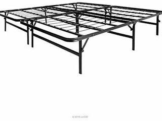lucid Foldable Metal Platform Bed Frame Queen Size
