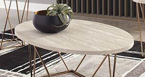 Signature Design by Ashley   Tarica Faux Marble Coffee Tabletop Only