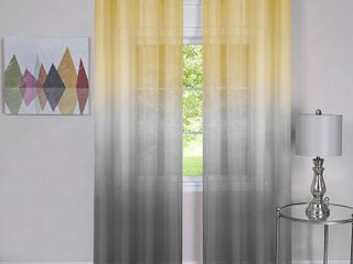 ACHIM Semi Sheer Ombre Single Curtain Panel