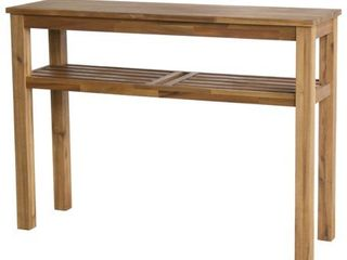 Tiburon Brown Acacia Wood Console with Shelf