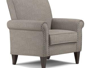 Herve Dove Grey linen Arm Chair