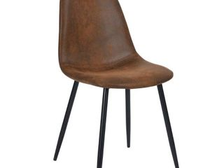 Sagudden Modern Faux leather Dining Chair  Set of 4