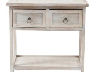 Pine Wood White Washed Console Table