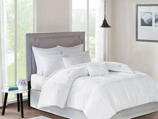 Onida King 8pc Comforter Set White   King