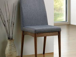 Sevo Mid century Grey Dining Chairs  Set of 2