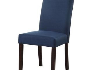 Mariana Blue Fabric Side Chair  Set of 2