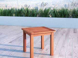 Cinnamon Brown Hardwood Outdoor Side Table