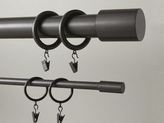 Curtain Rod Clip Rings by lavish Home  Two Sets of 8