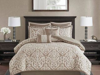 Dillon 8 Piece Jacquard Comforter Set   Queen