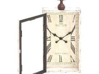 Farmhouse 28  x 12  wood and Metal Wall Clock