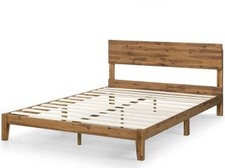 Priage by Zinus 10  Wood Platform Bed with Headboard   Queen