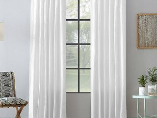 Two Washed Cotton Twist Tab Single Curtain Panels
