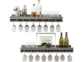 Del Hutson Designs Rustic luxe Stemware Shelf Set  36