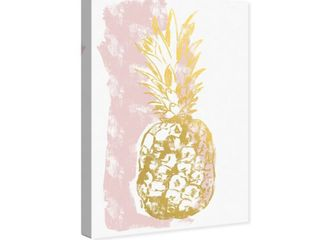 Oliver Gal  Pineapple  Fashion and Glam Wall Art Canvas Print   Gold  White