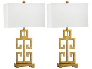 Safavieh 29 in  H Greek Key Geometric Glam Table lamp  Set of 2
